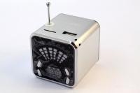 Колонки с FM приемником JH-MD04 LCD (USB/microSD/AUX/LCD)
